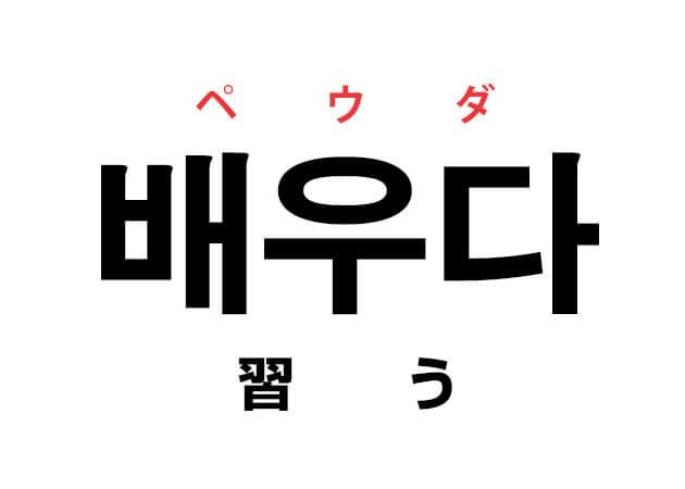 배우다 ペウダ 習う 韓国語の意味