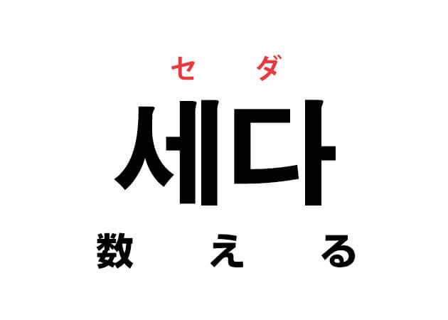 세다 セダ 数える 韓国語の意味