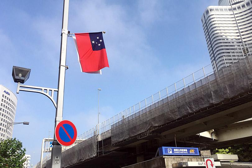 他の国もやっていると思いますが、おもてなしの国旗