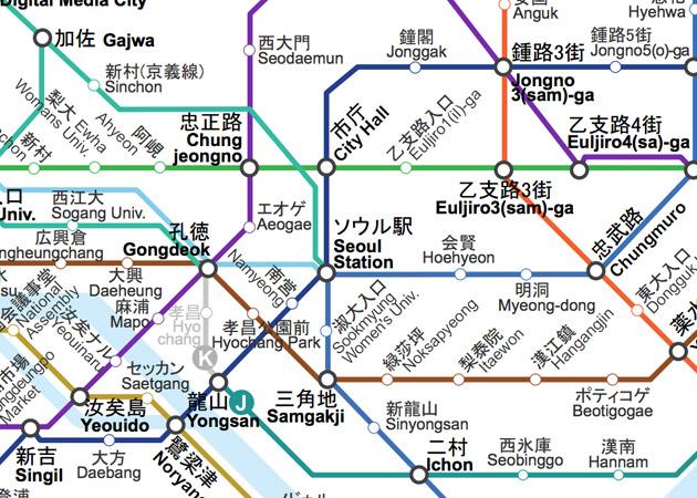 ソウル地下鉄マップ