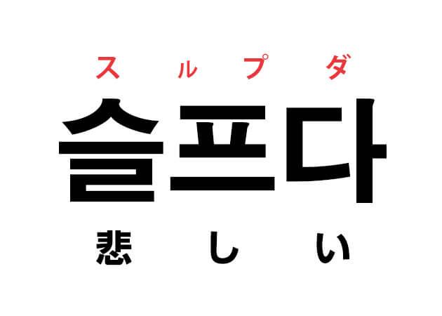 悲しい 韓国語 意味
