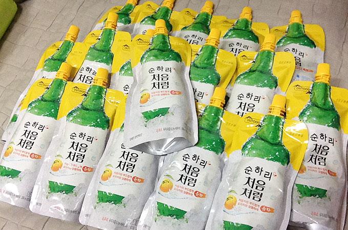 パックタイプ 焼酎 ゆず 韓国で人気