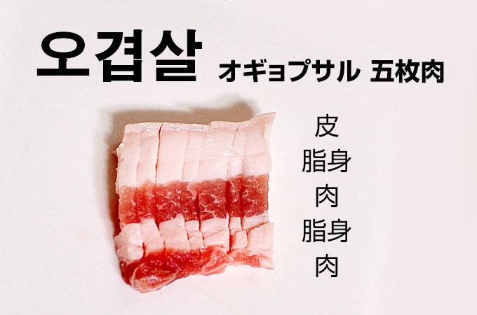 五枚肉 오겹살(オギョプサル)