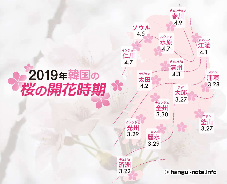 パソコンで2019年韓国の桜開花・桜まつりの情報をチェック!