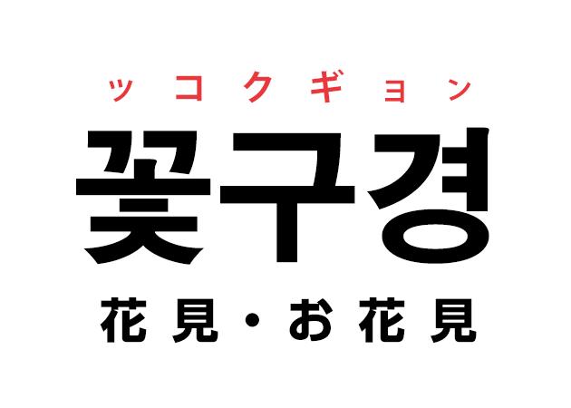 韓国語の「꽃구경 ッコクギョン(花見・お花見)」を覚える!