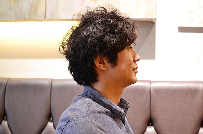 韓国で髪を切る、ヘアーカット前。横向き編