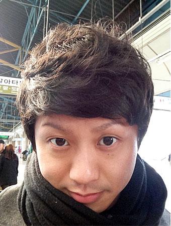 韓国でヘアーカットをして、韓国の方にも韓国人と間違われる