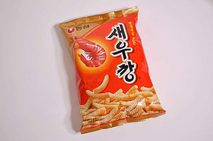 韓国の美味しいお菓子새우깡