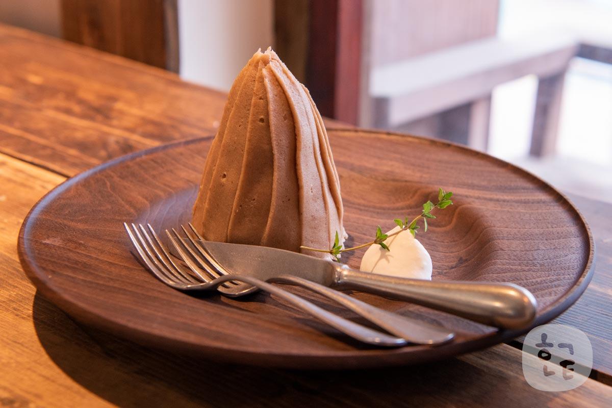 季節限定のモンブランのケーキが人気
