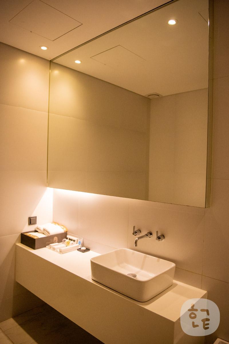 洗面所もでかい鏡