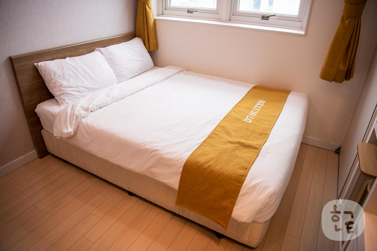 D7スイーツトンデムンのベッドはこんな感じ