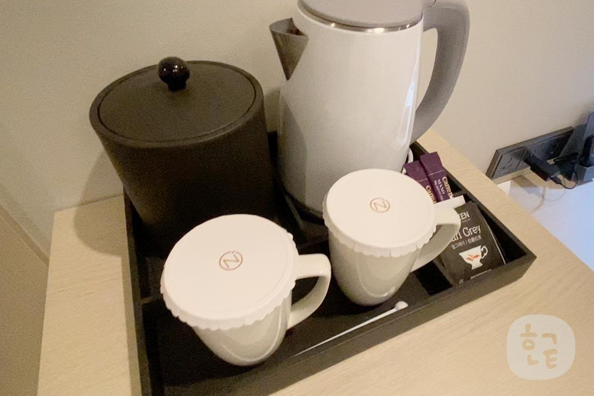 コーヒーやお茶も飲める